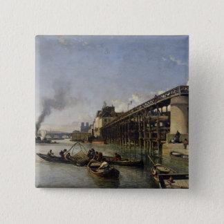 View of Paris, the Seine or l'Estacade, 1853 Pinback Button