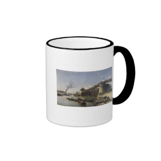 View of Paris, the Seine or l'Estacade, 1853 Ringer Mug