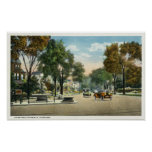 View of Park and Fairfield Avenues Poster