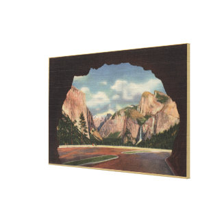 View of Park from Portal of Grandeur Stretched Canvas Print