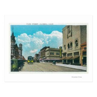 View of Park StreetAlameda CA Postcard