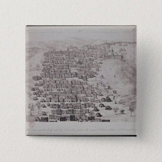 View of part of the town of Timbuktu from a hill Pinback Button