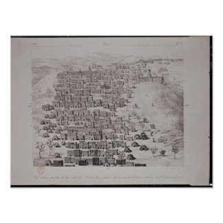 View of part of the town of Timbuktu from a hill Poster