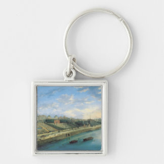 View of Passy and Chaillot from Grenelle Silver-Colored Square Keychain