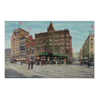 View of Pergola in Pioneer Square Posters