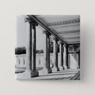 View of peristyle and left wing of the Trianon Pinback Button