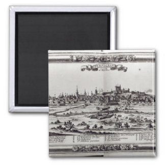 View of Perpignan, southern France, c.1645 2 Inch Square Magnet