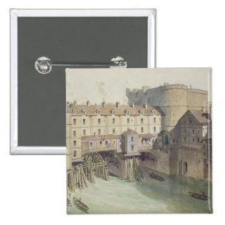 View of Petit Chatelet and the Petit Pont 2 Inch Square Button