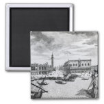 View of Piazza San Marco from the Bacino, Venice 2 Inch Square Magnet