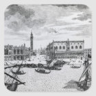 View of Piazza San Marco from the Bacino, Venice Square Sticker