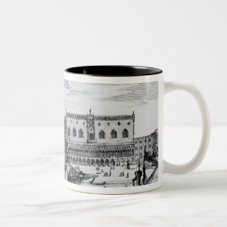 View of Piazza San Marco from the Bacino, Venice Two-Tone Coffee Mug