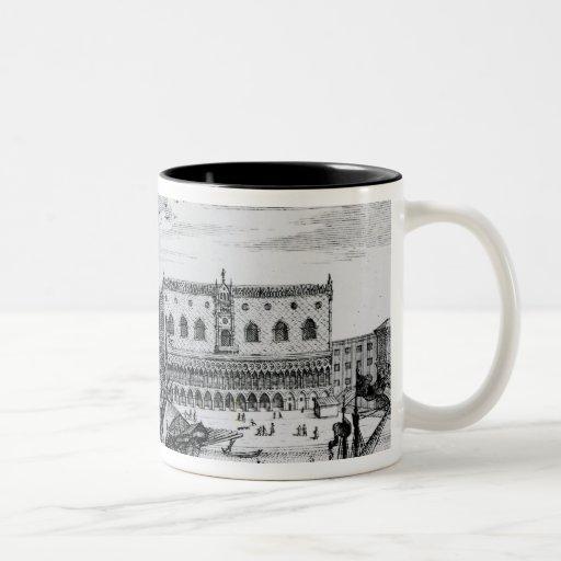 View of Piazza San Marco from the Bacino, Venice Two-Tone Coffee Mug