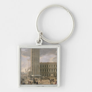 View of Piazza San Marco, Venice, c.1726 Silver-Colored Square Keychain