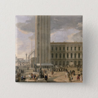 View of Piazza San Marco, Venice, c.1726 Pinback Button