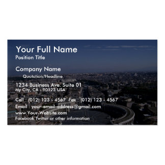 View of Piazza San Pietro from St. Peter's Basilic Business Card