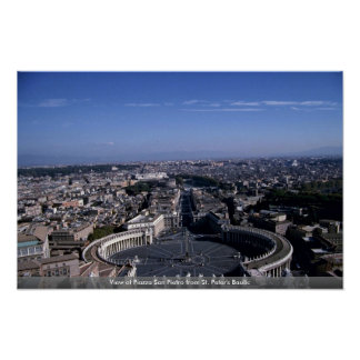 View of Piazza San Pietro from St. Peter's Basilic Print