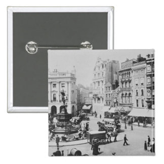View of Piccadilly Circus, c. 1900 Pinback Button