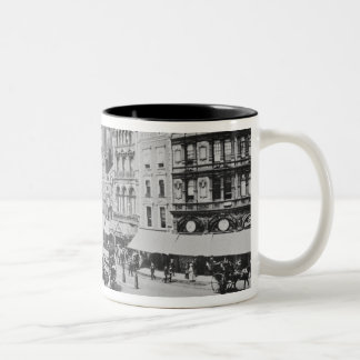 View of Piccadilly Circus, c. 1900 Two-Tone Coffee Mug