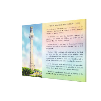 View of Pilgrim Memorial and Brief Information Canvas Print