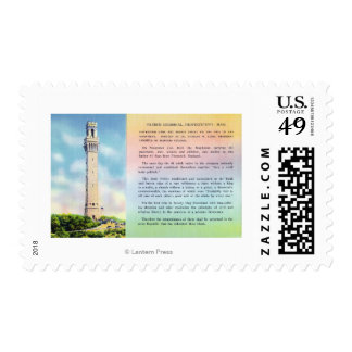 View of Pilgrim Memorial and Brief Information Postage