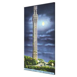 View of Pilgrim Memorial at Night Canvas Print