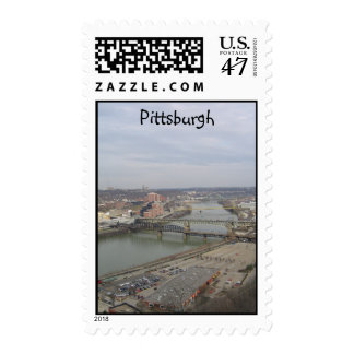 View of Pittsburgh Postage Stamp