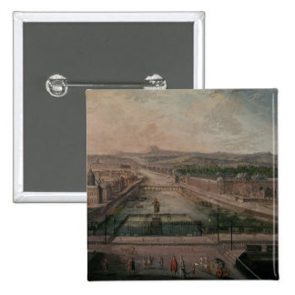 View of Place Dauphine and the Seine Pinback Button