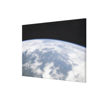 View of planet Earth from space Canvas Print