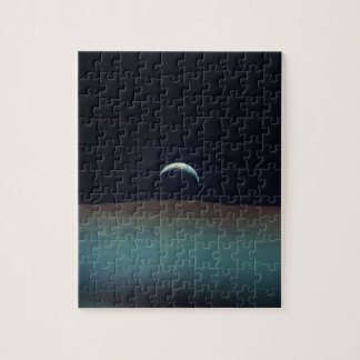 View of planet earth from the moon jigsaw puzzle