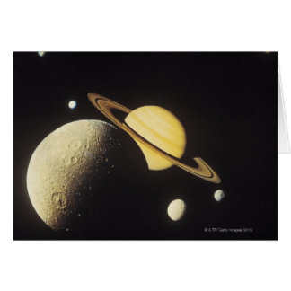 view of planets in the solar system cards