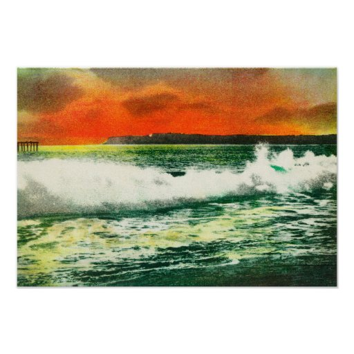 View of Point Loma at SunsetCoronado, CA Poster