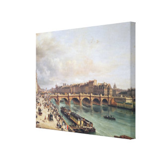 View of Pont Neuf, 1832 Canvas Print