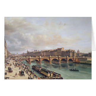View of Pont Neuf, 1832 Greeting Card