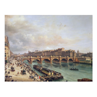 View of Pont Neuf, 1832 Postcard