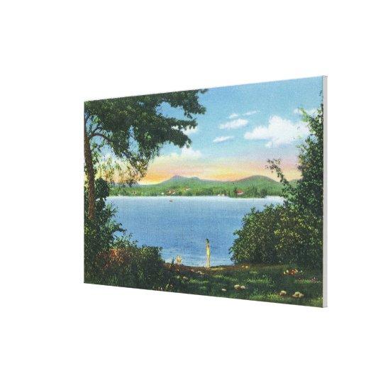 View of Pontoosuc Lake Canvas Print