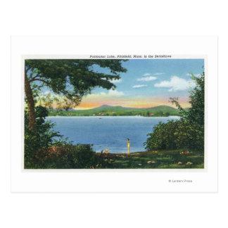 View of Pontoosuc Lake Postcard