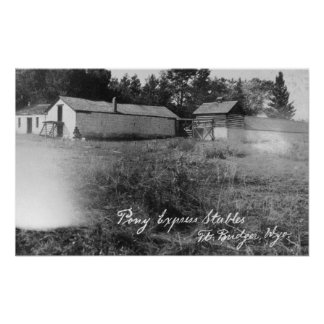 View of Pony Express Stables Print