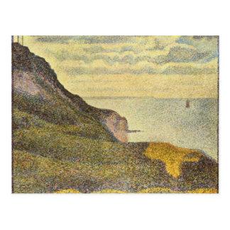 View of Port-en-Bessin by Georges Seurat Postcard
