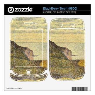 View of Port-en-Bessin by Georges Seurat Decal For BlackBerry