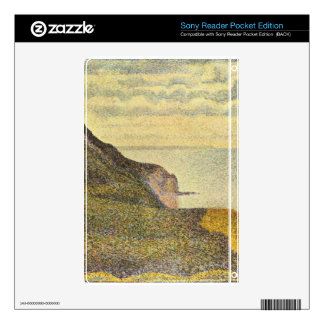 View of Port-en-Bessin by Georges Seurat Skins For Sony Reader