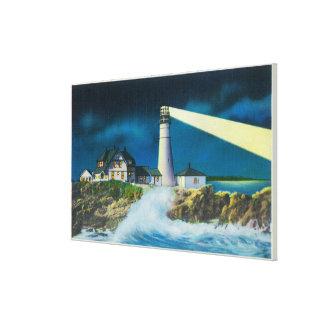 View of Portland Head Lighthouse on Casco Bay Canvas Print
