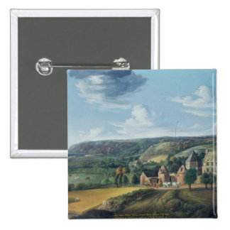 View of Potrel Manor, near Dragey in Normandy Pinback Button