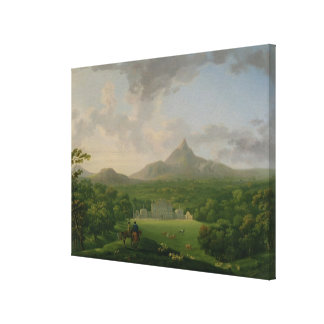 View of Powerscourt, County Wicklow, c.1760-2 (oil Canvas Print