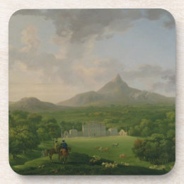 View of Powerscourt, County Wicklow, c.1760-2 (oil Coaster
