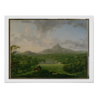 View of Powerscourt, County Wicklow, c.1760-2 (oil Poster