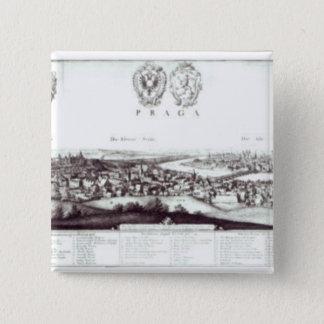 View of Prague, 1649 Pinback Button