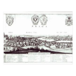 View of Prague, 1649 Postcard