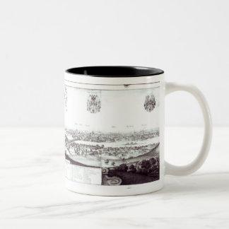 View of Prague, 1649 Two-Tone Coffee Mug