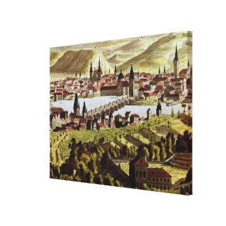 View of Prague Stretched Canvas Print
