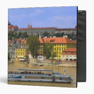 View of Prague Castle and town by Vltava 3 Ring Binder